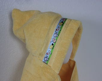 Farm Animal Hooded Towel, Yellow - For babies, toddlers, preschoolers and beyond!