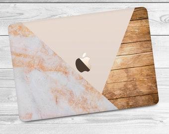 Pink Marble Case Macbook 2017 Macbook Pro Case Macbook Air Case Wood Marble Case Macbook 12 Case Macbook 2016 Case Geometric Case Hard
