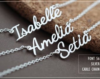Custom Name Necklace-Personalized Name Necklace-Custom Name Gift-Your Name Necklace-Bridesmaids Jewelry-Children Names-Gift for mom. #NF56