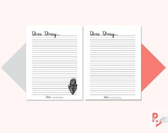 DIARY ENTRY Happy Planner Printable Insert, Create 365, Happy Planner Inserts, Happy Planner Classic, MAMBI Planner, Instant Download
