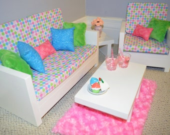 "18"" Doll Furniture. Living Room - Victoria Set"