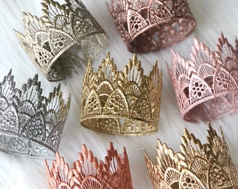 Ready to Ship || REMASTERED || MINI Sienna lace crown ||headband option|| photography prop || Washable || Love Crush Exclusive