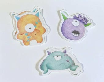 Timid Monster Sticker 3 Pack