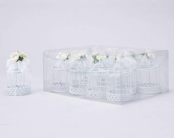 12 Mini bird cage wedding favors (item: 22-0372)