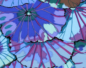 Westminster Fibers - Kaffe Fassett Classics - Lotus Leaf - Blue - GP29.BLUE - 100% cotton fabric - Fabric by the yard(s)