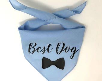 Best Dog Bandana, Wedding Dog Bandana, Dog Wedding Bandana, Dog of Honor, Wedding Save the Date, Humans Are Getting Married, Dog Wedding Ban