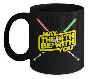 May the 4th Be With You - Star Wars Mug - Star Wars Day - Gift for Dad - Lightsabers Mug - Galaxy Far Far Away