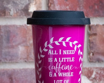 Caffeine and Crafting Latte Mug