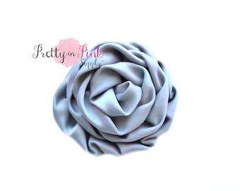 Grey Isabella Collection Ruffled Rosettes- You Choose Quantity- Rolled Rosettes- Rolled Rosettes- Rosettes- Flower- Supply- DIY Headband