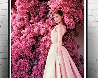 Audrey Hepburn,  fashion print, vintage photography,  print, wall art, Hollywood icon