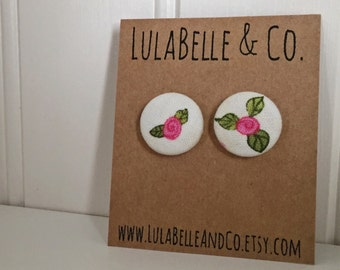 CLEARANCE!  Rosettes Button Earring