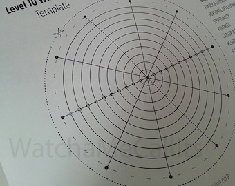 Level 10 Wheel of Life Printable Template