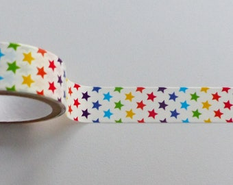 Washi tape star washi 15 mm wide and 2.5 metres