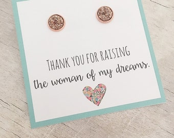 Mother of the Bride Gift from Groom - Druzy Stud Earrings - Mother of the Bride Gift - Gift for Mother of Bride from Groom