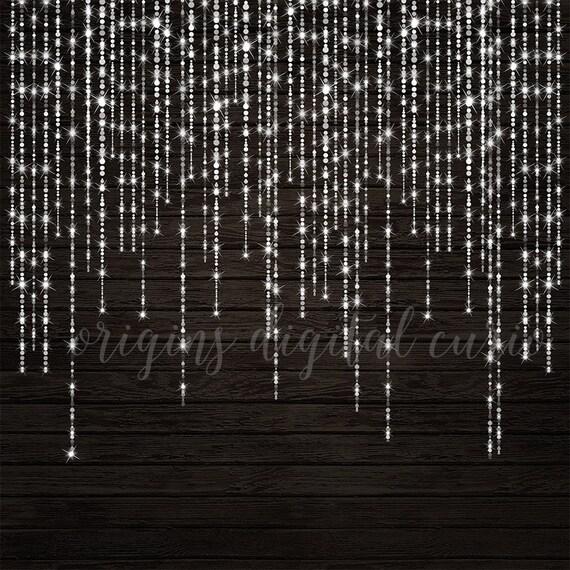 Sparkling Bokeh String Lights Clipart Digital Overlay PNG