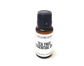 TEA TREE OIL - Acne Treatment - Oil Cleansing Method - Blemish Treatment - Natural Skincare - Vegan Skincare - Essential Oil