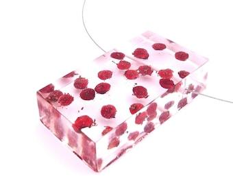 Sumac Berries Pendant -   Encased in Resin