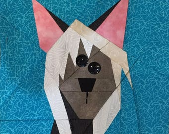 Chinese Crested Paper Pieced Block Pattern in PDF
