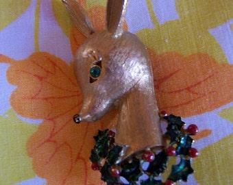 gerry's christmas deer pin