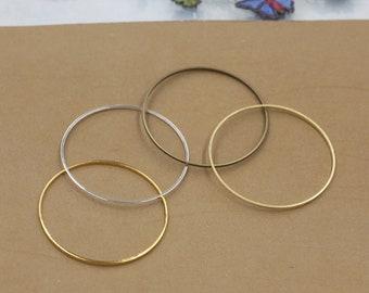 Bulk 100 pcs pendants charms  circle  brass base