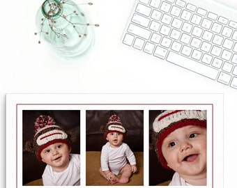 Photoshop Collage Template - 10x20, 3 Images, Baby Photo Collage Templates, Storyboard Templates, PSD Templates, Photography Template