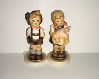 Hummel Germany Pigtails & For Keeps Club Membership Figurines Set