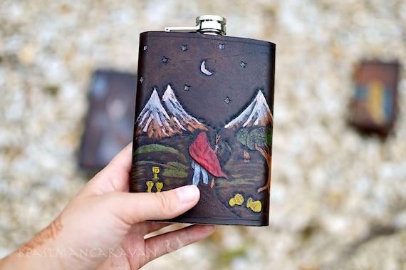 Tarot Card Flask - Any Card in the Deck - Major Arcana Minor Arcana - 8oz Flask