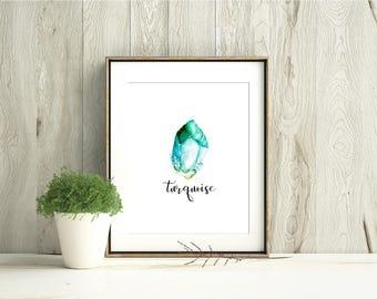 Raw Turquoise December Birth Stone
