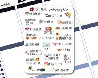 Alternative Holiday Celebration Stickers - Planner Stickers for Erin Condren Life Planners - I1