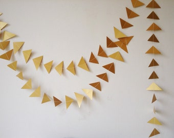 Gold Geometric Wedding Garland - Party Decoration - Wedding Decor - Triangle - Christmas - Decoration - Choose Your Length