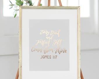 Calligraphy Print | Custom Calligraphy Quote, Saying, Bible Verse, Etc. | Digital Print | Foil Print