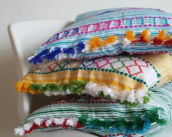 Tangier Stripes : handwoven cushions