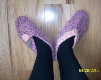 Victoria Rose and Peach Slippers