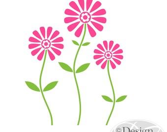 Large Flowers Wall Decal, Teen, Tweens, Nursery Sticker BF-106