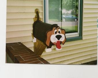 Fait à la main boîte aux lettres Beagle fonctionnel en bois sur mesure