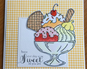 Ice cream Sundae Card