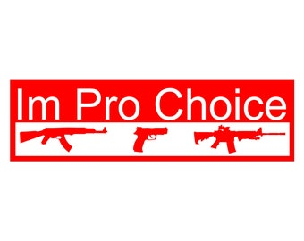 pro choice GUN decal