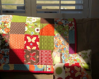 Colour My World Quilt and Pillow
