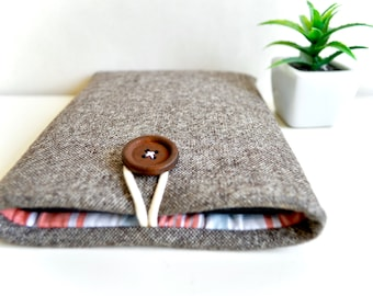 Brown + Plaid Kindle Sleeve Kindle Oasis Kindle Voyage Kindle Paperwhite Kindle Case Unisex