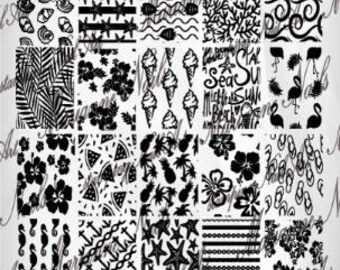 Nail art stamping plate Marianne Nails summer 16