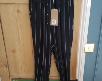 Pre-loved Stripy Linen Trousers