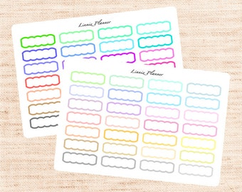 Scallop Box Functional Basics (matte planner stickers, Erin Condren, Happy Planner)
