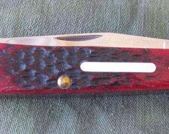 CASE XX 2014 30th Limited Edition Series XXX Brick Red Jigged Bone Handle Trapper Pocket Knife