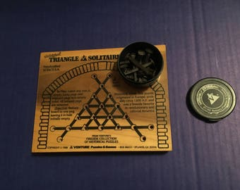 The Original Triangle Solitaire Historical Puzzle Game