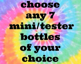 Pick ANY 7 MINI BOTTLES (9ml) from Polish Me Silly :  Custom-Blended Glitter Nail Polish /  Indie Lacquer
