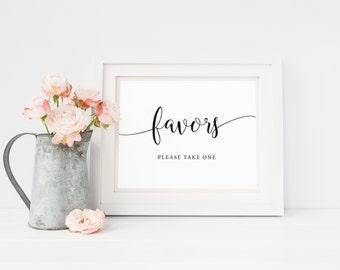 Wedding Favor Sign, Favors Table Sign, Wedding Favor Printable, Please Take One Favors Sign, Shower Favors Sign