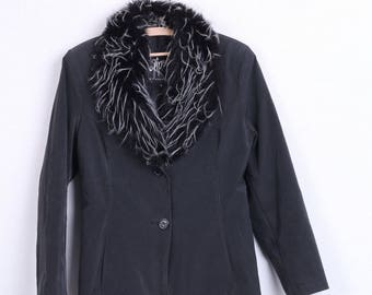 Gipsy by Mauritius Womens M Jacket Blazer Black Single Breasted Vintage
