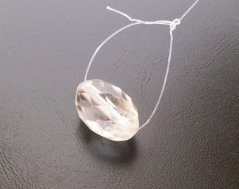 Faceted State Drill Natural genuine CRYSTAL broilette  checker Cut faceted gemstone....