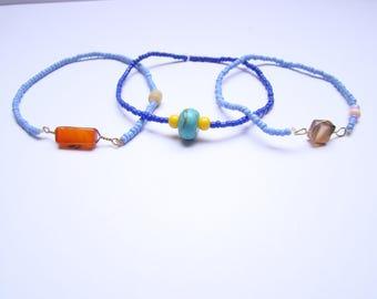 set of 3 bracelet - water-