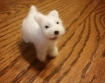 Needle Felt, Westie the West Highland White Terrier